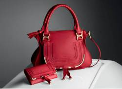 Chloe-marcie-medium-shoulder-bag-in-smooth-calfskin-cherry-jelly-long-wallet-with-flap-in-smoothcalfskin-1 chloè donna,uomo,borse , accessori , scarpe, abbigliamento,stock,ingrosso,chloè