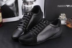ARMANI-Mens-Sneakers-Casual-Lace-Up-TWO-COLOR-Black emporio-armani donna,uomo,borse , accessori , scarpe, abbigliamento,stock,ingrosso,emporio armani