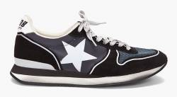 golden-goose-marked-running-sneakers-black golden-goose donna,uomo,borse , accessori , scarpe, abbigliamento,stock,ingrosso,golden goose