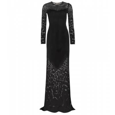 P00097082-Floor-length-stretch-jersey-dress--STANDARD roberto-cavalli cavalli