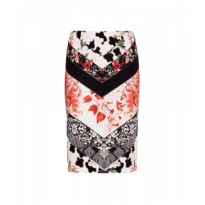 P00097091-Printed-stretch-pencil-skirt--STANDARD roberto-cavalli cavalli